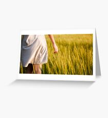 Tounching the field Greeting Card