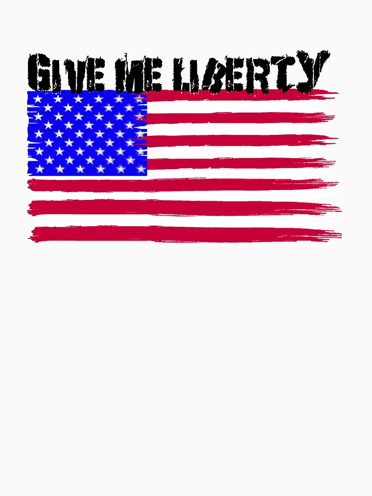 Give Me Liberty Patriotic U.S. Flag by Rightbrainwoman