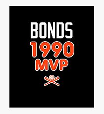 Bonds 1990 Baseball MVP Photographic Print