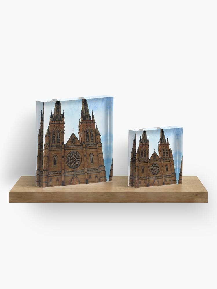 Alternative Ansicht von St. Mary's Kathedrale Acrylblock