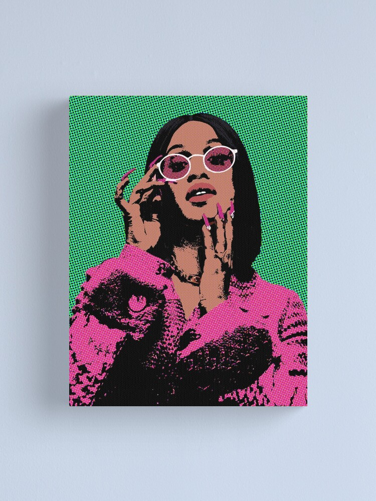 Alternate view of Cardi B pop art Canvas Print