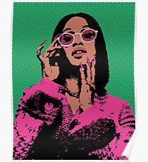 Cardi B Pop-Art Poster