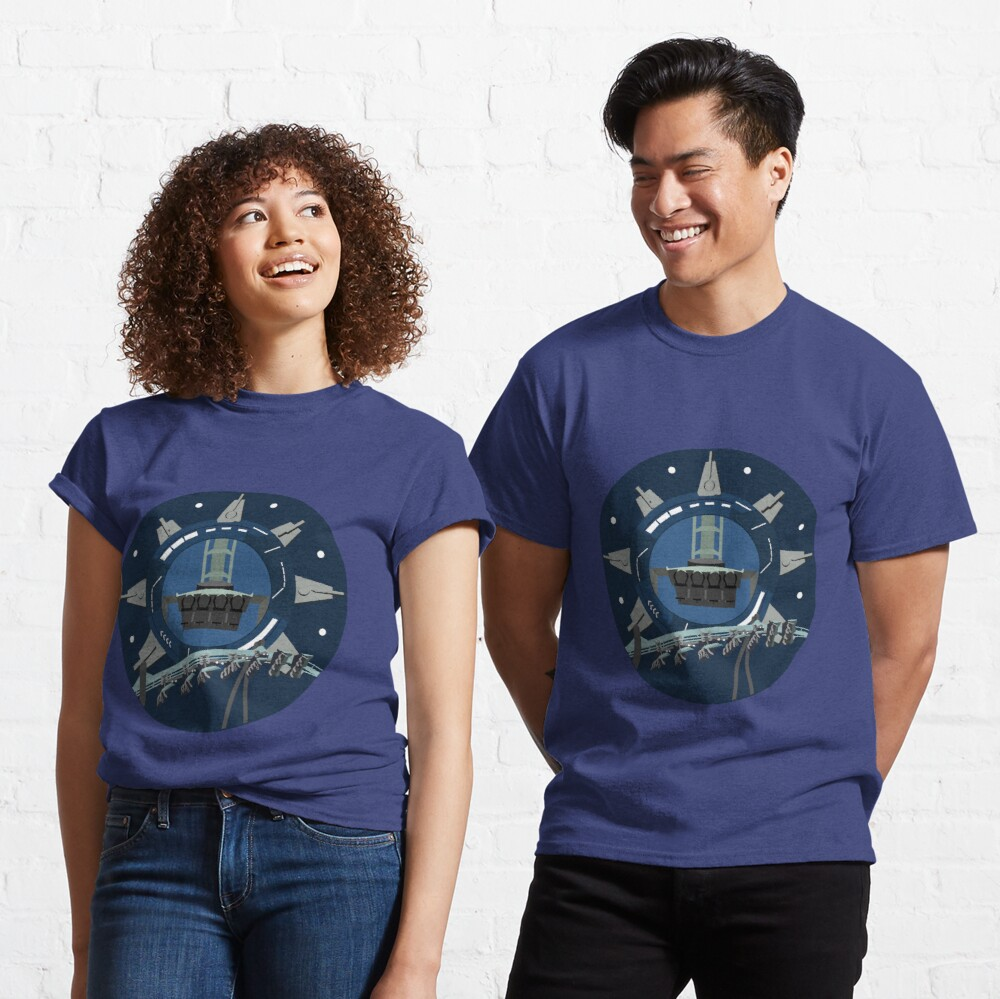 Galactic Space Rollercoaster Design Classic T-Shirt