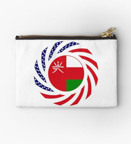 Omani American Multinational Patriot Flag Series Zipper Pouch