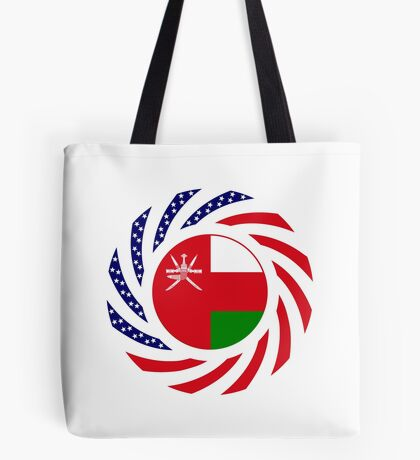 Omani American Multinational Patriot Flag Series Tote Bag
