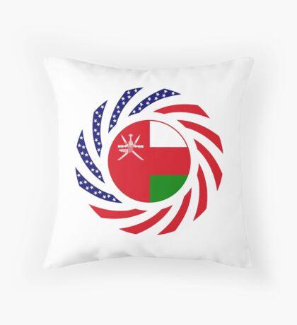 Omani American Multinational Patriot Flag Series Throw Pillow