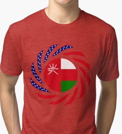 Omani American Multinational Patriot Flag Series Tri-blend T-Shirt