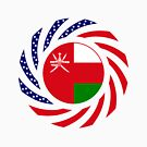 Omani American Multinational Patriot Flag Series by Carbon-Fibre Media