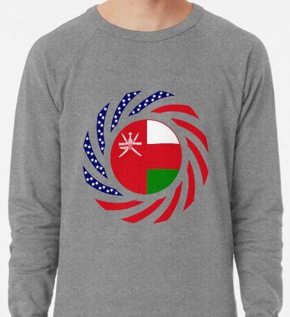 Omani American Multinational Patriot Flag Series Lightweight Sweatshirt