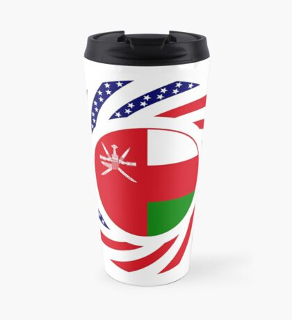 Omani American Multinational Patriot Flag Series Travel Mug