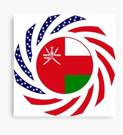 Omani American Multinational Patriot Flag Series Canvas Print