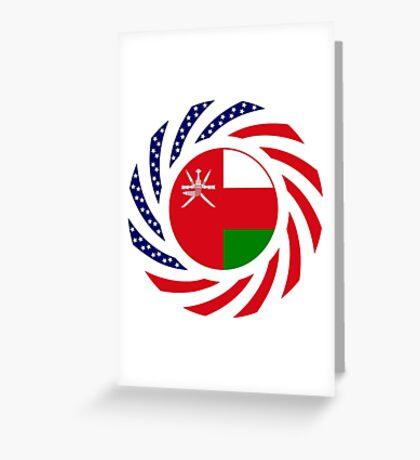 Omani American Multinational Patriot Flag Series Greeting Card