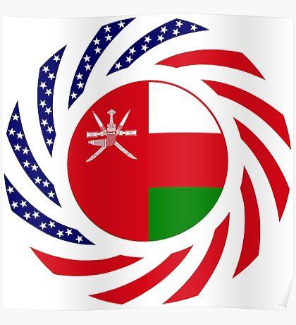 Omani American Multinational Patriot Flag Series Poster