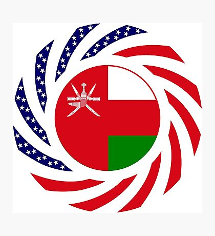 Omani American Multinational Patriot Flag Series Photographic Print