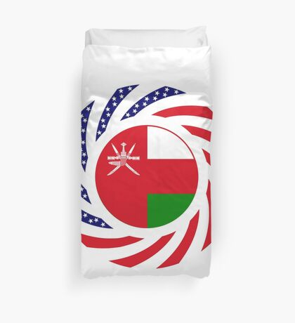 Omani American Multinational Patriot Flag Series Duvet Cover