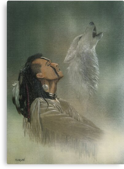 Native american indian by morgansartworld
