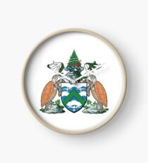 Coat of Arms of Ascension Island Clock