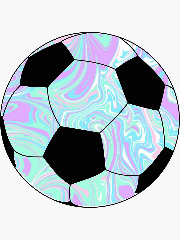 blue/purple Soccer Ball  by alanarose98