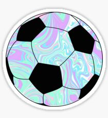 blue/purple Soccer Ball  Sticker