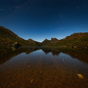 Moonlight over Cradle Mountain, Tasmania by robbywarren