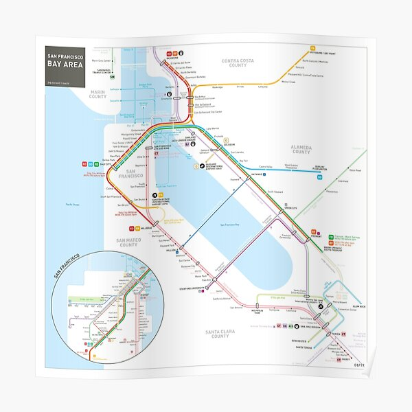San Francisco Muni Transit Map Poster