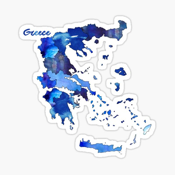 Watercolor Countries - Greece Sticker