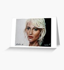 battlestar galactica - cylon 6 - tricia helfer - oil on canvas Greeting Card