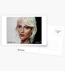 battlestar galactica - cylon 6 - tricia helfer - oil on canvas Postcards