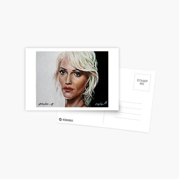 battlestar galactica - cylon 6 - tricia helfer - oil on canvas Postcard