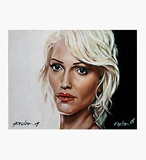 battlestar galactica - cylon 6 - tricia helfer - oil on canvas Photographic Print