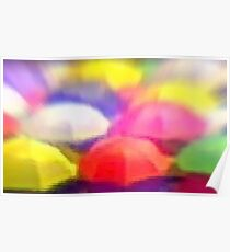 """Umbrella Rainbow"", Photo / Digital Painting Poster"
