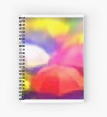 """Umbrella Rainbow"", Photo / Digital Painting Spiral Notebook"