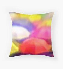 """Umbrella Rainbow"", Photo / Digital Painting Throw Pillow"