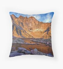 First Light at Chasm Lake Throw Pillow