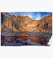 First Light at Chasm Lake Poster