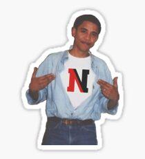 Northeastern University NEU NU Obama Supreme Tshirt Huskies Sticker