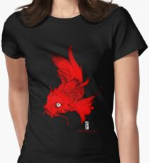 Koi | red Womens Fitted T-Shirt