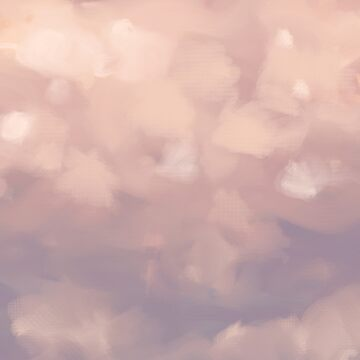 Fluffy Pink Sunset Clouds by nykiway