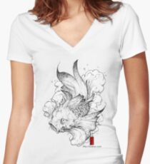 Koi | clear Women's Fitted V-Neck T-Shirt