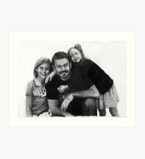 Jon and Daughters Art Print