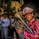 Indian Band player on street show. by Sagar Lahiri