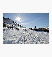 Snowy scene Photographic Print