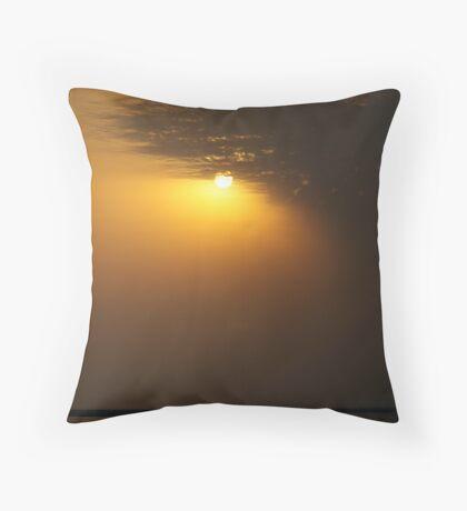 Sunset over the Brahmaputra River, Assam, India Throw Pillow