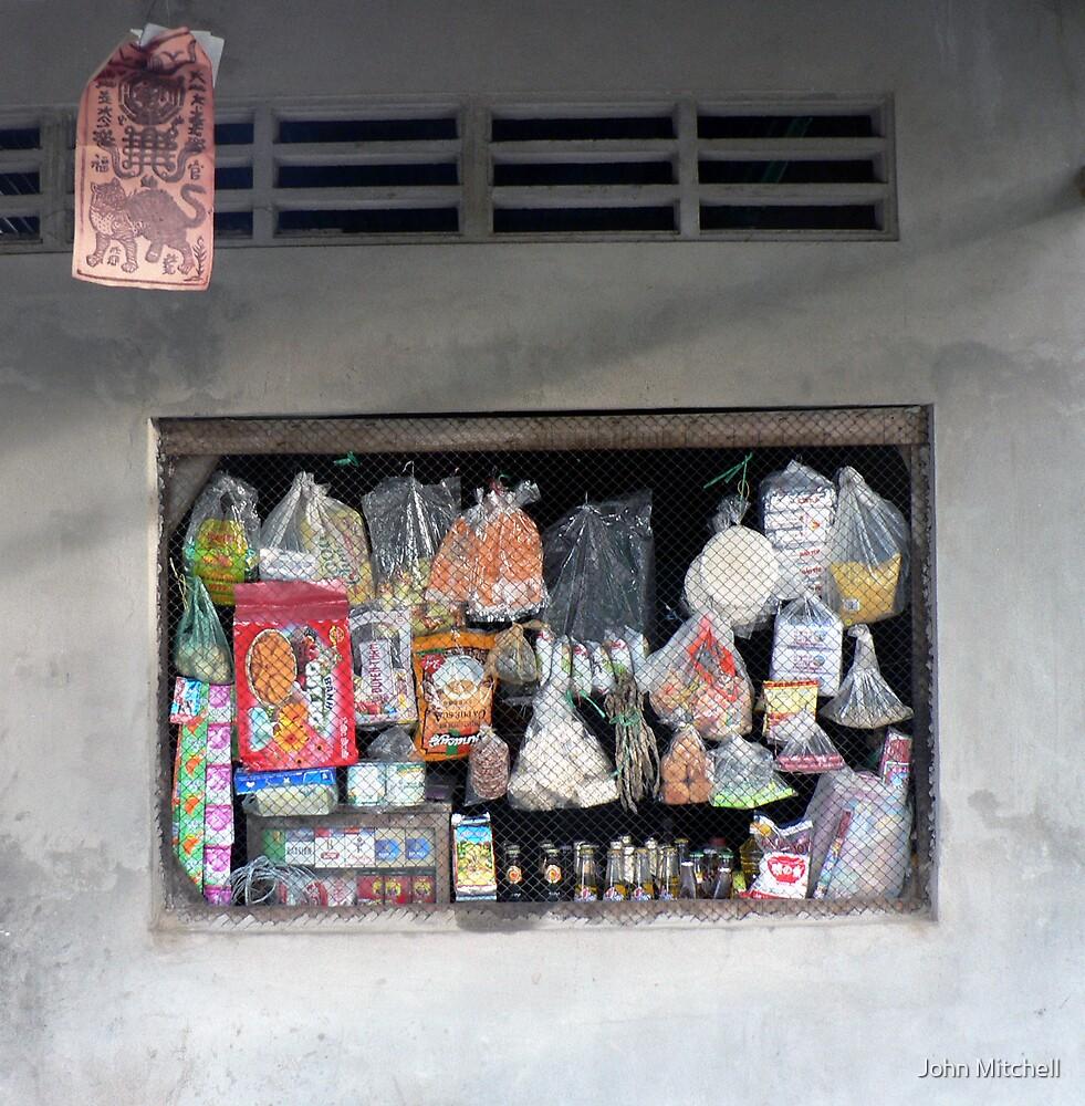 "Shop ""window"", Mekong village, Vietnam by John Mitchell"