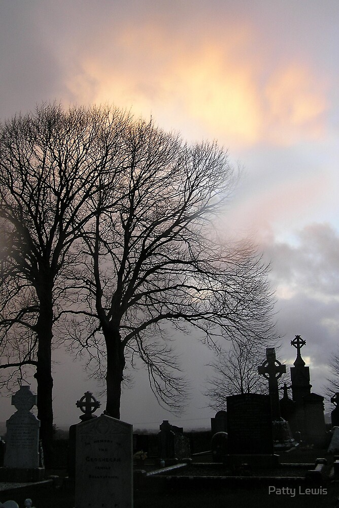 End of Day at Monasterboice by Patty Lewis