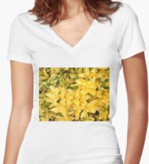 """""""Yellow's Delight"""", Photo Artwork Women's Fitted V-Neck T-Shirt"""
