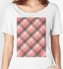 Plaid Pattern...Pink! Women's Relaxed Fit T-Shirt