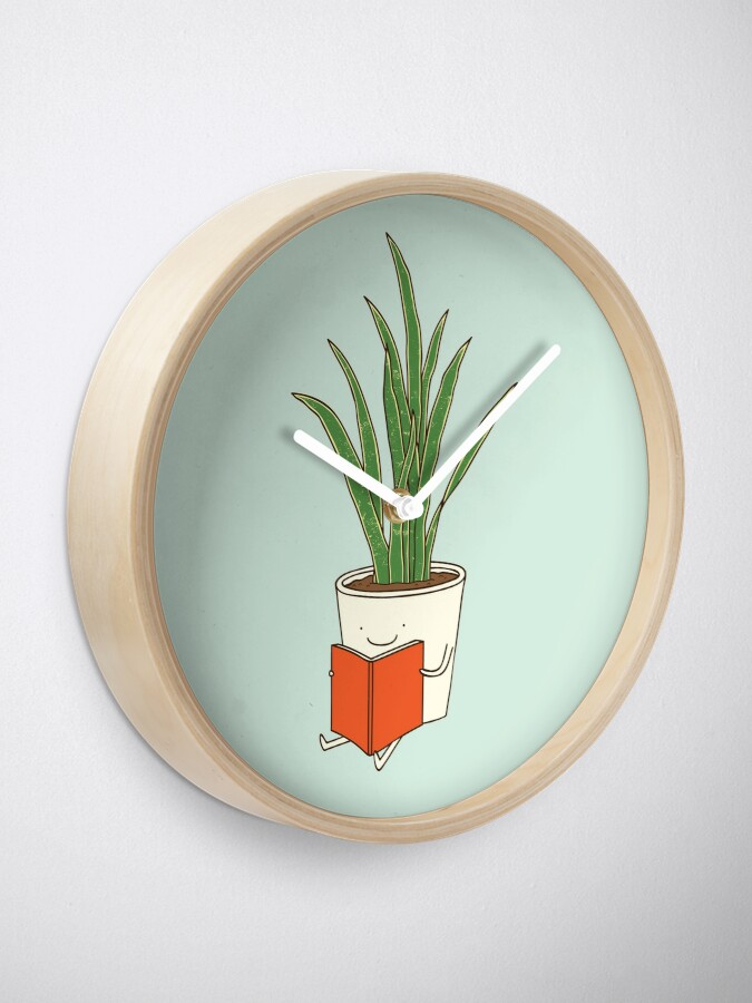 Alternate view of Indoor plant Clock