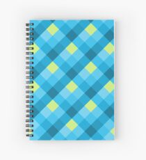 Plaid Pattern...Blue and Yellow! Spiral Notebook