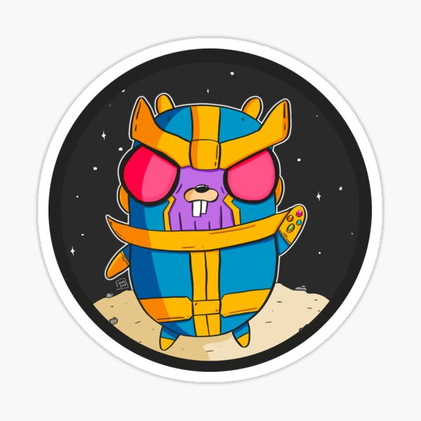 Thanos Gopher - Golang Pegatina